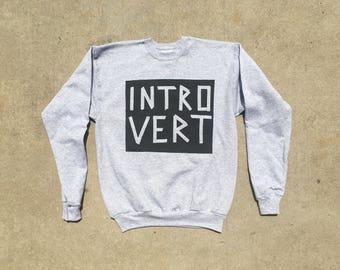 Introvert Sweatshirt | ISTJ | ISFJ | INFJ Sweatshirts Hand-painted | Free Shipping