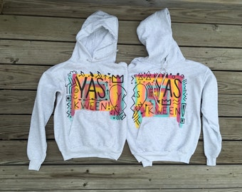 YAS KWEEN Best Friends Hand-Painted Hoodie Sweatshirts