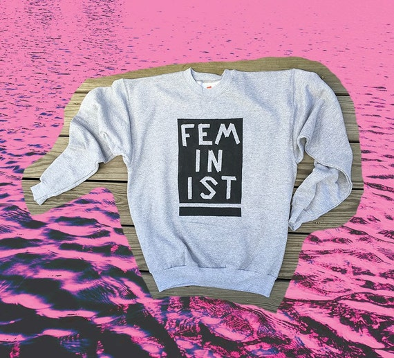Feminist Hand-Painted Sweatshirt