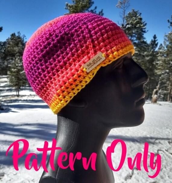 Basic Half Double Crochet Beanie PDF Pattern Instant Digital  f25e40e65d3