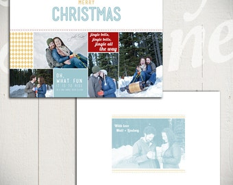 Holiday Card Template: Jingle Bell Rock C - Christmas Card 5x7 Template