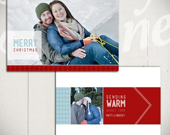 Holiday Card Template: Jingle Bell Rock D - Christmas Card 5x7 Template