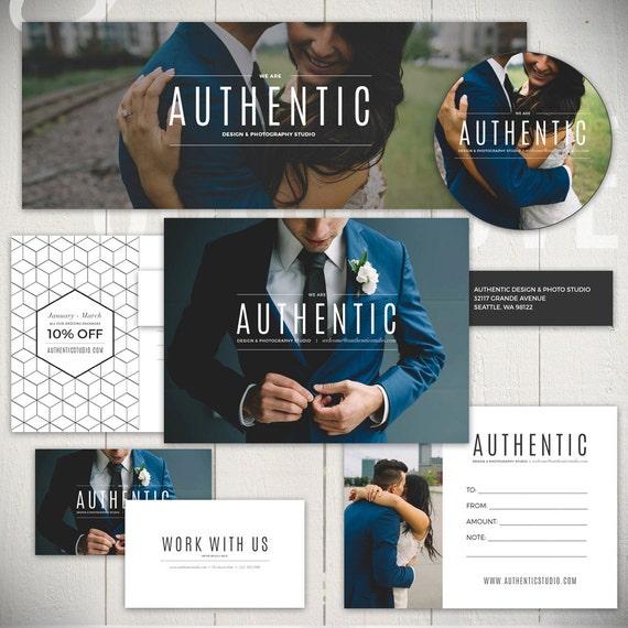 Photography Marketing Set Templates Authentic Studio Etsy