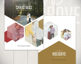 Christmas Card Template: Sweet And True D - 5x7 Holiday Card Templates for Photographers