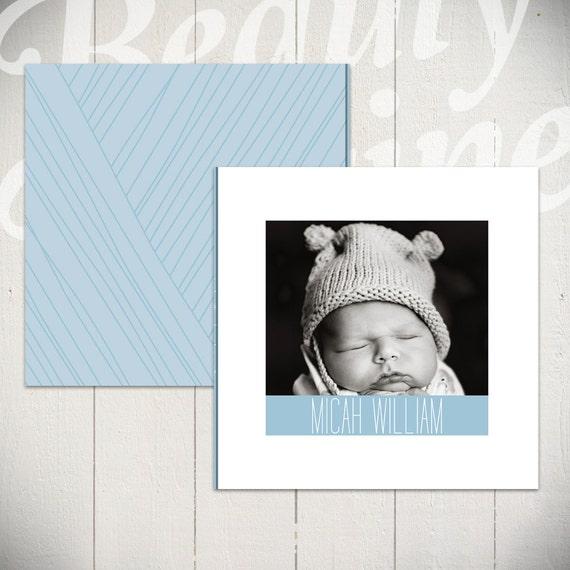 Baby Album Template: Little Bird Newborn Book Template for ...