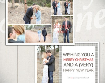Christmas Card Template: Glory D - 5x7 Holiday Card Template for Photographers