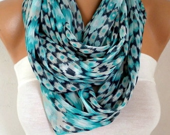 Easter gift,Mint Infinity Chiffon Scarf,Cowl Scarf Circle Loop Scarf Gift Ideas For Her Women Fashion Accessories Women Scarves