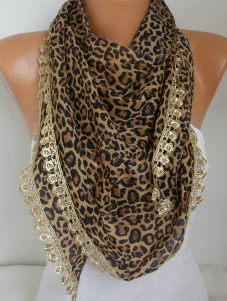 LADIES Leopard Scarf Grey Green Ivory Animal Print 50th Birthday Gift Sale New
