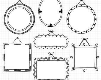 Frame Clipart Hand Drawn Clip Art Frames Commercial Use Digital