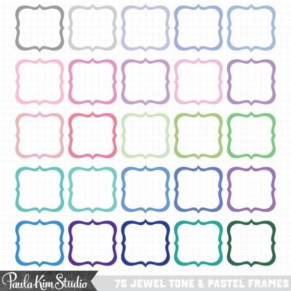 Digital Frames and Borders Clip Art Cute Frame Clipart | Etsy