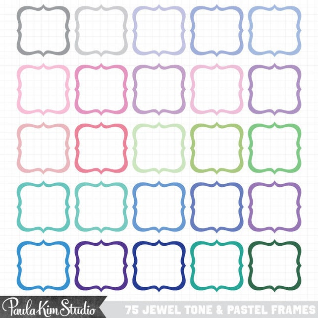 digital frames and borders clip art cute frame clipart etsy