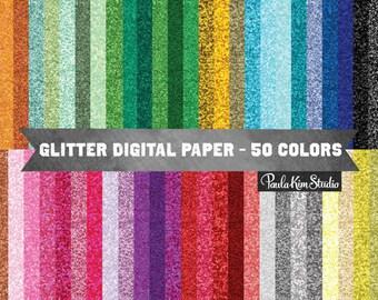 Glitter Digital Paper, Rainbow Glitter Digital Paper, Glitter Digital Download, Glitter Background Clipart, Glitter Clip Art, Commercial Use