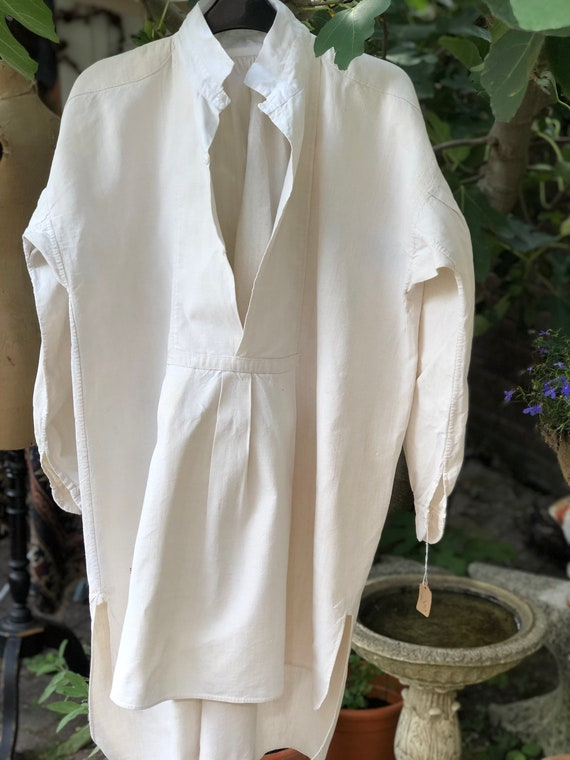Immaculate antique French paysanne shirt / smock