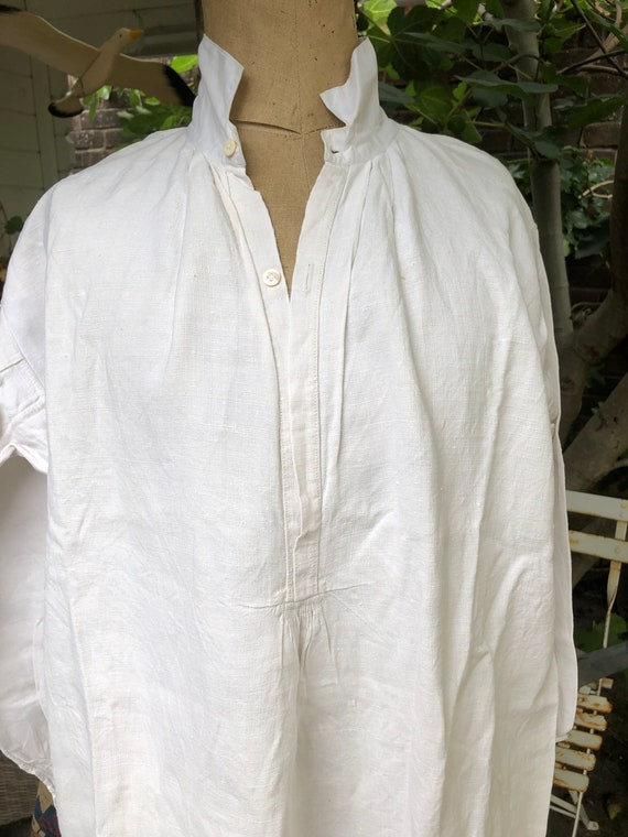 Beautiful French linen antique shirt