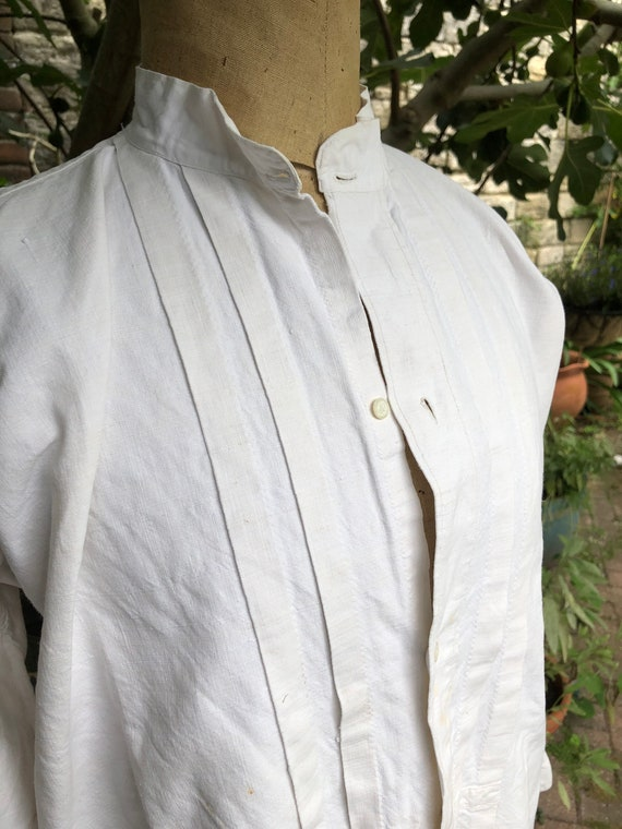 Beautiful French linen antique shirt