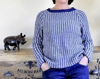 0f4a949d4 Knitting pattern for top-down Raglan sweater Nele