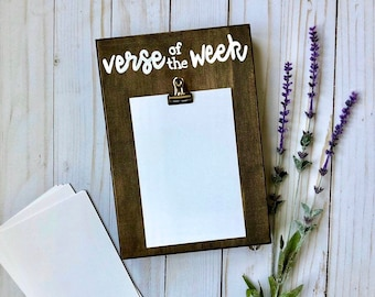 Verse of the Week Sign, Bible Verse Sign, Christian Wall Decor