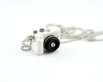 Personalized necklace Canon M3(White) Camera miniature / personalized gift /personalized necklace