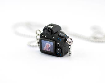 Personalized necklace Canon 750D Camera miniature / Personalized Gift / Personalized Necklace / Personalized Jewelry