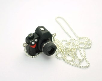 Nikon D60 DSLR Camera miniature necklace