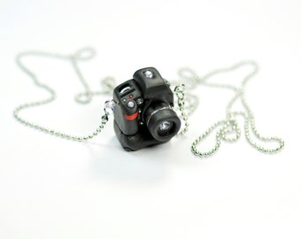 Nikon D700 Camera with battery pack miniature necklace
