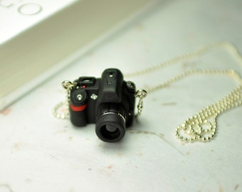 Nikon D90 DSLR Camera miniature necklace
