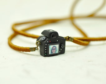 Personalized necklace Nikon D600 Camera miniature / personalized gift / personalized necklace