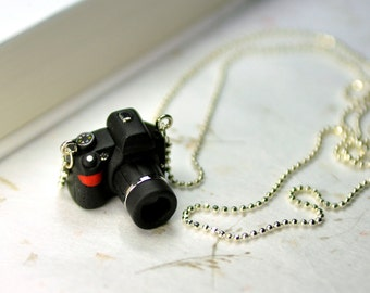 Nikon D3100 Black Camera miniature necklace