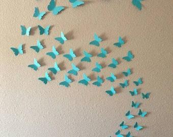 3D Butterfly Wall Art.  48, 96 or 144 Butterflies.