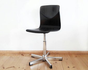 Mid Century Chair Bentwood Chair with Chrome Foot by Drabert Company
