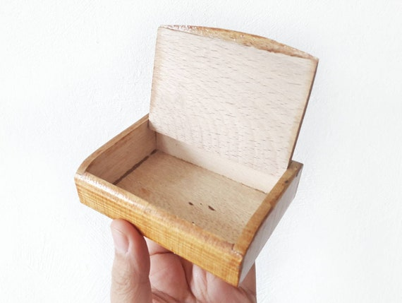 Vintage Box Aus Holz Für Die Visitenkarten Oder Juwelen