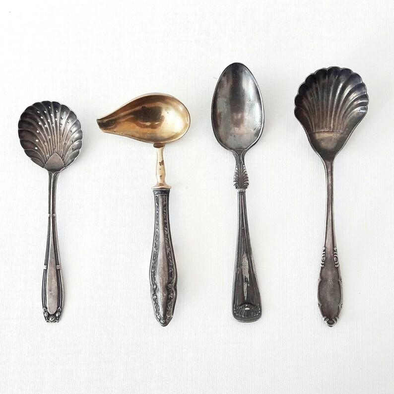 Mid Century Spoons Lot of 4