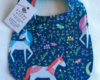 Bib for baby and toddler- unicorn