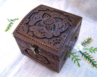 Wedding jewelry box Wedding ring box Ring bearer box Ring bearer pillow Jewellery box Wooden box Wedding ring holder Jewelry ring box B49