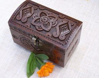 Ring bearer box Wedding ring box Jewelry box Wooden box Ring bearer pillow Pillow lace Wood carving Wedding ring pillow Jewelry boxes B54