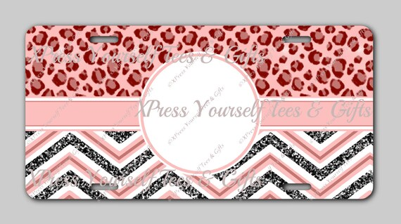cute tag template girly tag template license plate etsy