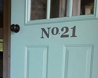 Front Door Decal - Address Sign - Door Decor - House Numbers Decal
