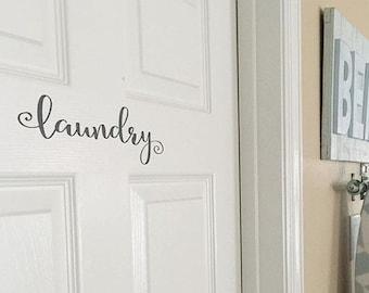 Laundry Decal - Laundry Room Decor - Laundry Room Decal - Laundry Sign - Farmhouse Decor - Country Cottage Decor