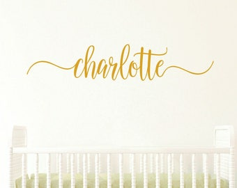 Name Wall Decal - Girl Nursery Decal - Name Lettering - Personalized Name Decal - Girls Bedroom Decor - Gold Decor - Gold Decal - Gold Name