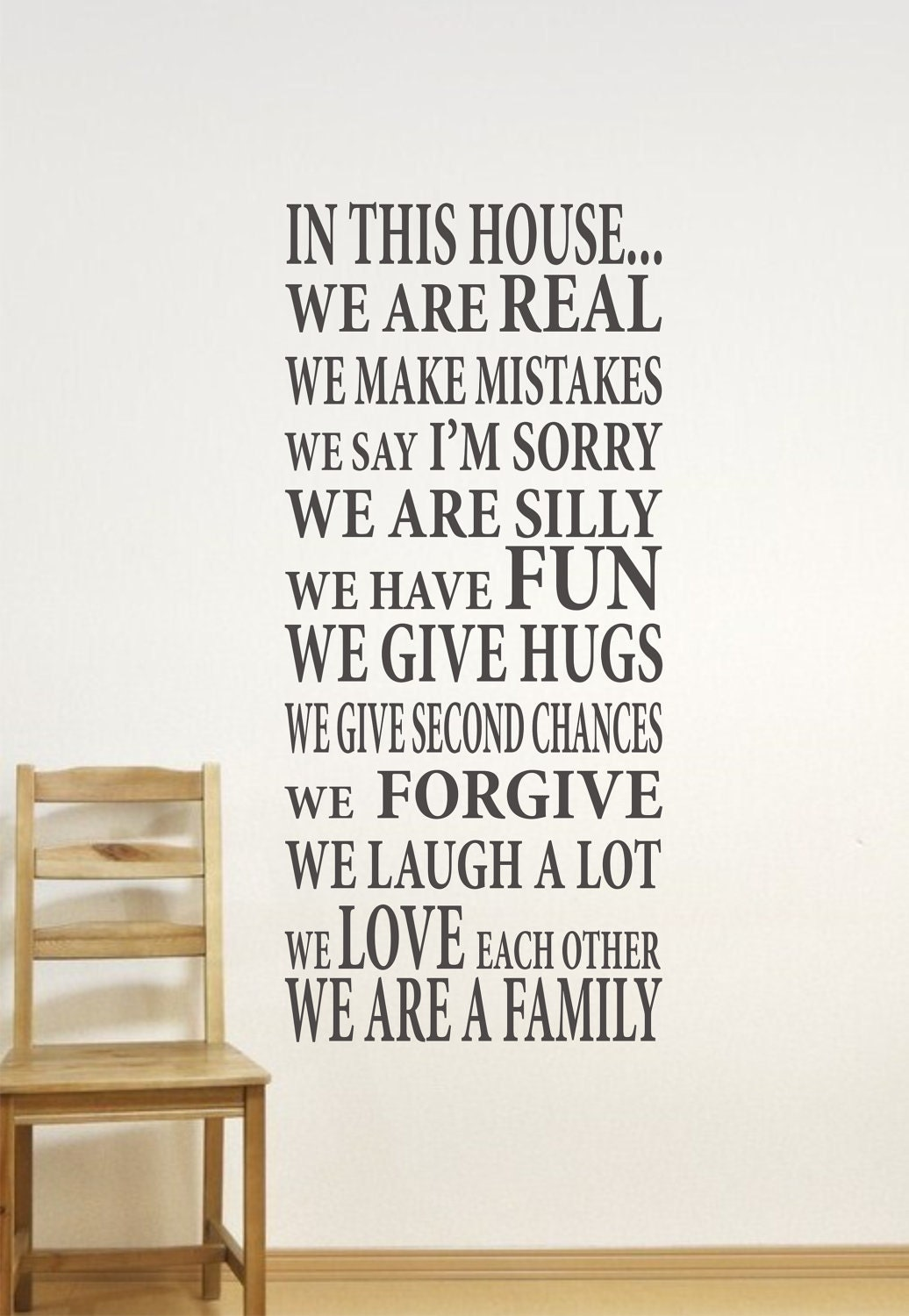 In This House Home Decor Family Wall Decal...We are Family ...