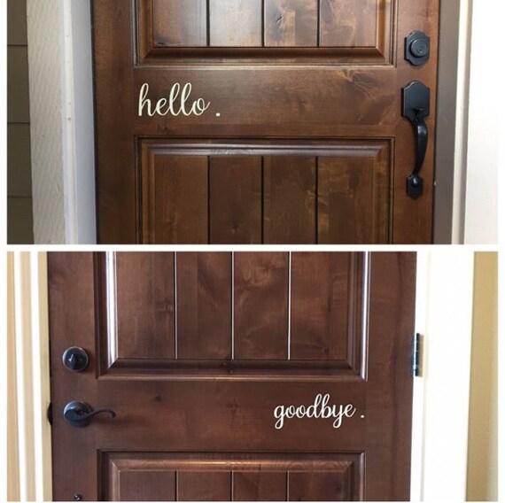 Goodbye, Hello Door Decals