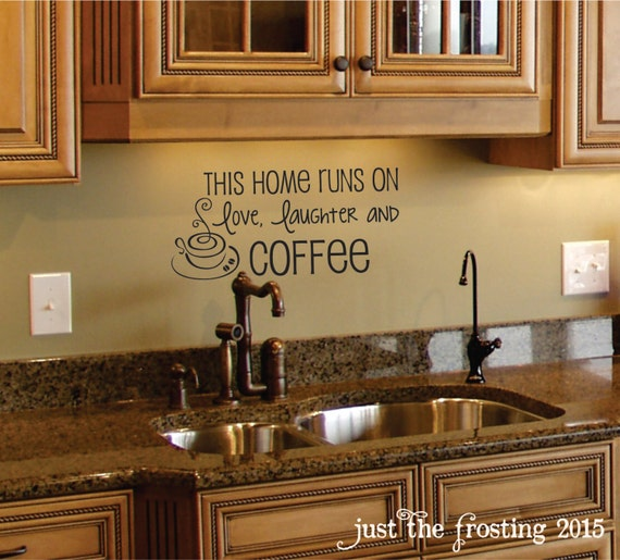 Kitchen Decor Canada: Coffee Wall Decal Coffee Decor Kitchen Wall Decal
