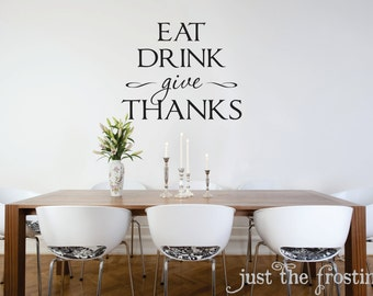 Kitchen Or Dining Wall Decals   Kitchen Vinyl Lettiring   Give Thanks Wall  Decal   Kitchen