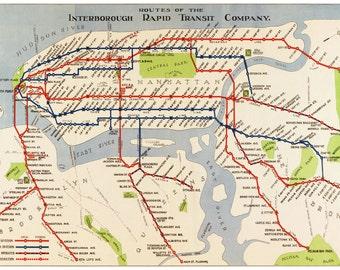 Manhattan Subway Map Nyc.Manhattan Subway Map Etsy