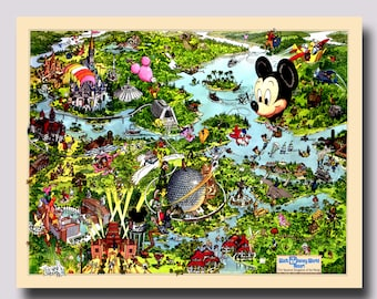 Disney park map | Etsy on