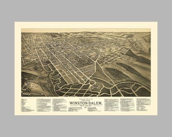 20x30 1919 Atlanta Georgia Vintage Old Panoramic City Map