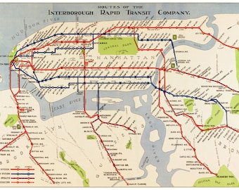 new york map manhattan subway map vintage