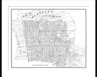 Berkeley Street Map Vintage Print Poster