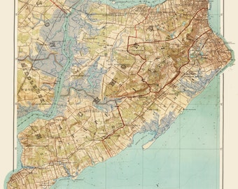 Staten Island Maps of New York City Print Poster