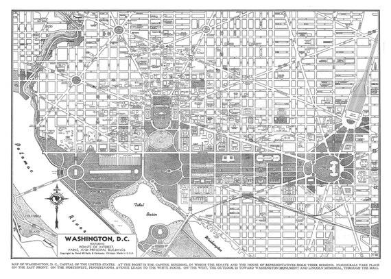 Sizzling image throughout printable street map of washington dc